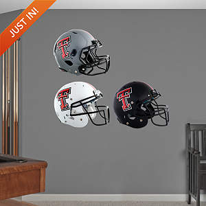 Texas Tech Red Raiders Helmet Collection Fathead Wall Decal